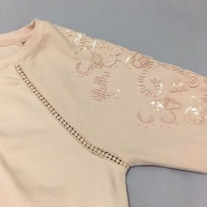 Crown and ivy embroidered sweater